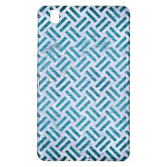 Woven2 White Marble & Teal Brushed Metal (r) Samsung Galaxy Tab Pro 8 4 Hardshell Case by trendistuff