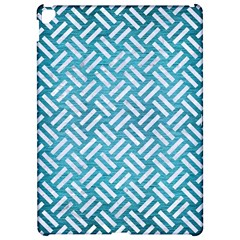 Woven2 White Marble & Teal Brushed Metal Apple Ipad Pro 12 9   Hardshell Case by trendistuff