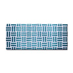 Woven1 White Marble & Teal Brushed Metal (r) Cosmetic Storage Cases by trendistuff