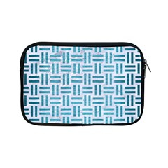Woven1 White Marble & Teal Brushed Metal (r) Apple Ipad Mini Zipper Cases by trendistuff