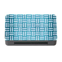 Woven1 White Marble & Teal Brushed Metal Memory Card Reader With Cf by trendistuff