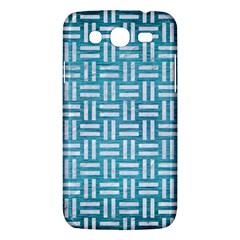 Woven1 White Marble & Teal Brushed Metal Samsung Galaxy Mega 5 8 I9152 Hardshell Case  by trendistuff