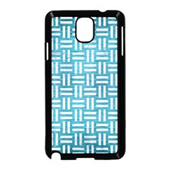 Woven1 White Marble & Teal Brushed Metal Samsung Galaxy Note 3 Neo Hardshell Case (black) by trendistuff