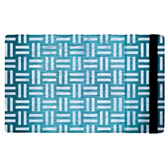 Woven1 White Marble & Teal Brushed Metal Apple Ipad Pro 9 7   Flip Case by trendistuff