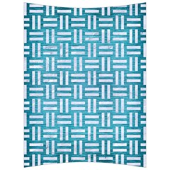Woven1 White Marble & Teal Brushed Metal Back Support Cushion by trendistuff
