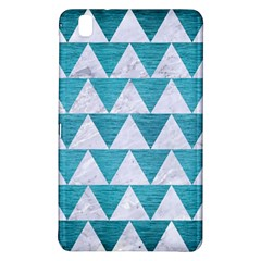Triangle2 White Marble & Teal Brushed Metal Samsung Galaxy Tab Pro 8 4 Hardshell Case by trendistuff