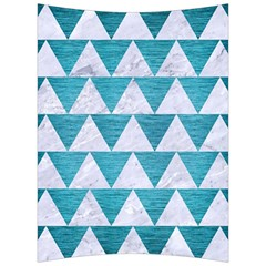 Triangle2 White Marble & Teal Brushed Metal Back Support Cushion by trendistuff
