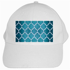 Tile1 White Marble & Teal Brushed Metal White Cap by trendistuff
