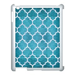 Tile1 White Marble & Teal Brushed Metal Apple Ipad 3/4 Case (white)