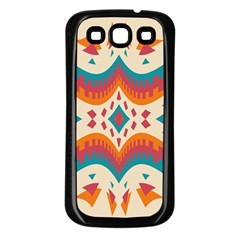 Symmetric Distorted Shapes                        Samsung Galaxy S3 Back Case (white) by LalyLauraFLM
