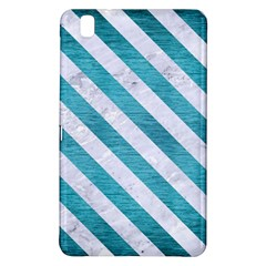 Stripes3 White Marble & Teal Brushed Metal Samsung Galaxy Tab Pro 8 4 Hardshell Case by trendistuff