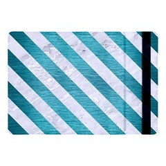 Stripes3 White Marble & Teal Brushed Metal Apple Ipad Pro 10 5   Flip Case by trendistuff