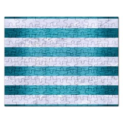 Stripes2white Marble & Teal Brushed Metal Rectangular Jigsaw Puzzl by trendistuff