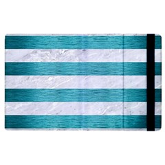 Stripes2white Marble & Teal Brushed Metal Apple Ipad 2 Flip Case by trendistuff