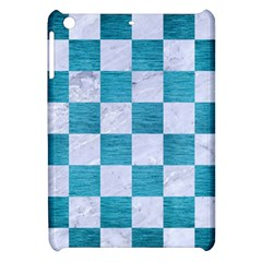 Square1 White Marble & Teal Brushed Metal Apple Ipad Mini Hardshell Case by trendistuff