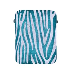 Skin4 White Marble & Teal Brushed Metal (r) Apple Ipad 2/3/4 Protective Soft Cases by trendistuff