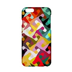 Colorful Shapes                         Apple Iphone 6/6s Black Enamel Case by LalyLauraFLM