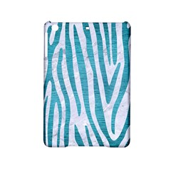 Skin4 White Marble & Teal Brushed Metal Ipad Mini 2 Hardshell Cases by trendistuff