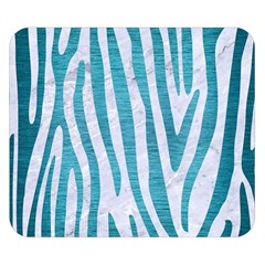Skin4 White Marble & Teal Brushed Metal Double Sided Flano Blanket (small)  by trendistuff