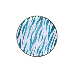 Skin3 White Marble & Teal Brushed Metal (r) Hat Clip Ball Marker (10 Pack) by trendistuff