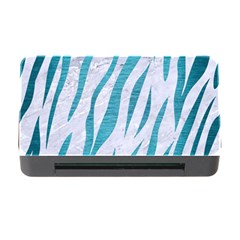 Skin3 White Marble & Teal Brushed Metal (r) Memory Card Reader With Cf by trendistuff