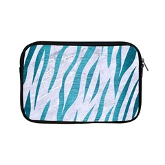 Skin3 White Marble & Teal Brushed Metal (r) Apple Ipad Mini Zipper Cases by trendistuff