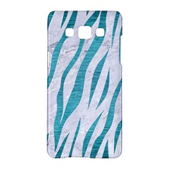 Skin3 White Marble & Teal Brushed Metal (r) Samsung Galaxy A5 Hardshell Case  by trendistuff