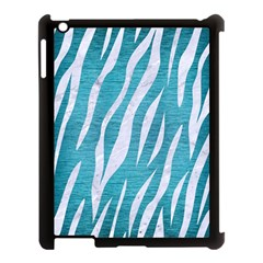 Skin3 White Marble & Teal Brushed Metal Apple Ipad 3/4 Case (black) by trendistuff