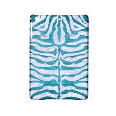 Skin2 White Marble & Teal Brushed Metal (r) Ipad Mini 2 Hardshell Cases by trendistuff