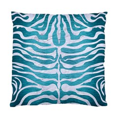 Skin2 White Marble & Teal Brushed Metal Standard Cushion Case (one Side) by trendistuff