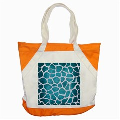 Skin1 White Marble & Teal Brushed Metal (r) Accent Tote Bag by trendistuff