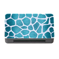 Skin1 White Marble & Teal Brushed Metal (r) Memory Card Reader With Cf by trendistuff