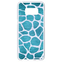 Skin1 White Marble & Teal Brushed Metal (r) Samsung Galaxy S8 White Seamless Case by trendistuff