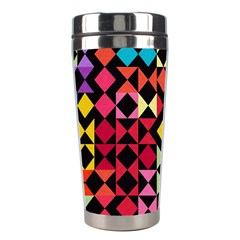 Colorful Rhombus And Triangles                                Stainless Steel Travel Tumbler by LalyLauraFLM