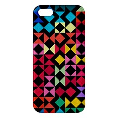 Colorful Rhombus And Triangles                          Apple Ipod Touch 5 Hardshell Case With Stand by LalyLauraFLM