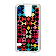 Colorful Rhombus And Triangles                          Motorola Moto G (1st Generation) Hardshell Case by LalyLauraFLM