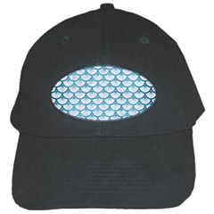 Scales3 White Marble & Teal Brushed Metal (r) Black Cap