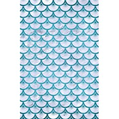 Scales3 White Marble & Teal Brushed Metal (r) 5 5  X 8 5  Notebooks by trendistuff
