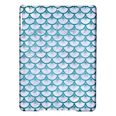 Scales3 White Marble & Teal Brushed Metal (r) Ipad Air Hardshell Cases by trendistuff