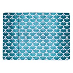 Scales3 White Marble & Teal Brushed Metal Samsung Galaxy Tab 10 1  P7500 Flip Case by trendistuff