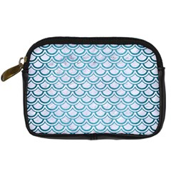 Scales2 White Marble & Teal Brushed Metal (r) Digital Camera Cases