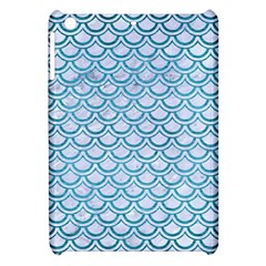 Scales2 White Marble & Teal Brushed Metal (r) Apple Ipad Mini Hardshell Case by trendistuff