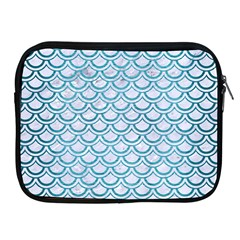 Scales2 White Marble & Teal Brushed Metal (r) Apple Ipad 2/3/4 Zipper Cases by trendistuff