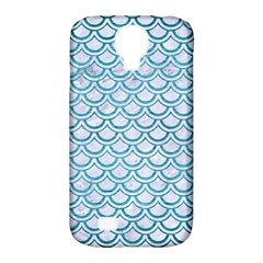 Scales2 White Marble & Teal Brushed Metal (r) Samsung Galaxy S4 Classic Hardshell Case (pc+silicone) by trendistuff