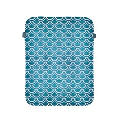 Scales2 White Marble & Teal Brushed Metal Apple Ipad 2/3/4 Protective Soft Cases by trendistuff
