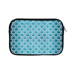 Scales2 White Marble & Teal Brushed Metal Apple Ipad Mini Zipper Cases by trendistuff