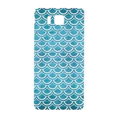 Scales2 White Marble & Teal Brushed Metal Samsung Galaxy Alpha Hardshell Back Case by trendistuff
