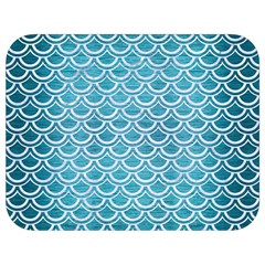 Scales2 White Marble & Teal Brushed Metal Full Print Lunch Bag by trendistuff