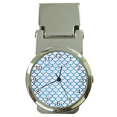 Scales1 White Marble & Teal Brushed Metal (r) Money Clip Watches by trendistuff