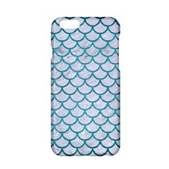 Scales1 White Marble & Teal Brushed Metal (r) Apple Iphone 6/6s Hardshell Case by trendistuff